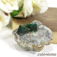 パキスタン スワット産の母岩付きエメラルドの原石(標本)20gの画像