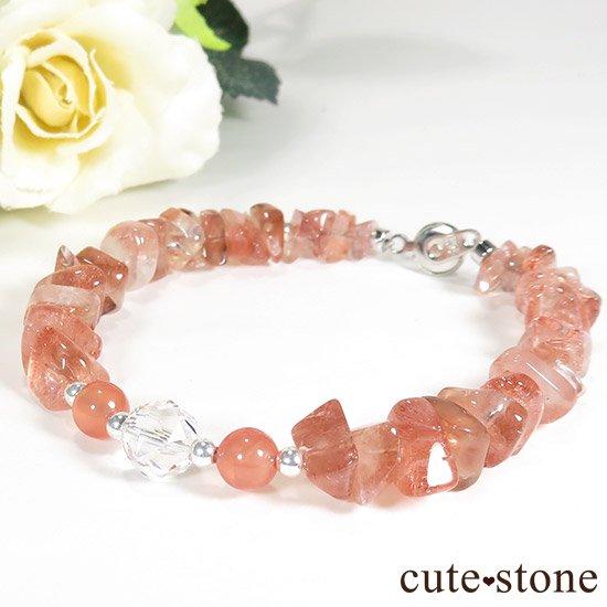 【Strawberry Princess】ストロベリークォーツ インカローズ 水晶のブレスレット