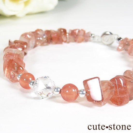 【Strawberry Princess】ストロベリークォーツ インカローズ 水晶のブレスレットの写真1 cute stone