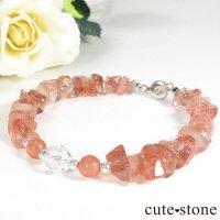 【Strawberry Princess】ストロベリークォーツ インカローズ 水晶のブレスレットの画像