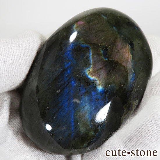 パープル〜ピンク ラブラドライトのタンブル(ポリッシュ) 157gの写真1 cute stone