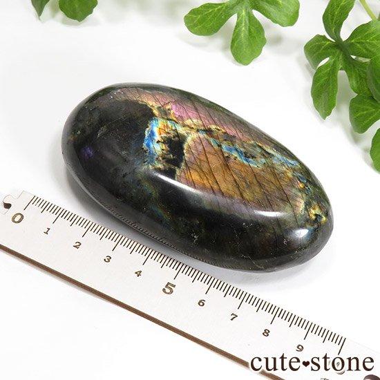 オレンジ パープル ピンク ラブラドライトのタンブル(ポリッシュ) 187gの写真3 cute stone