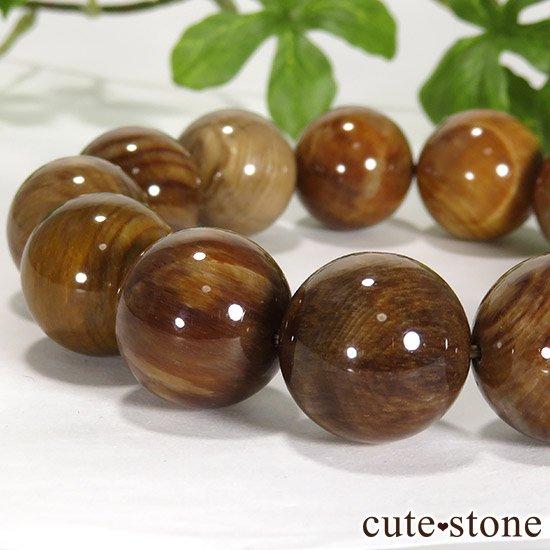ペトリファイドウッド(珪化木)のブレスレット 17.5mmの写真1 cute stone