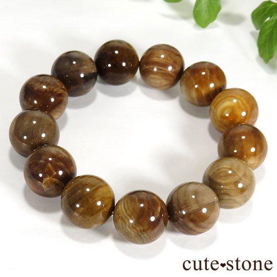 ペトリファイドウッド(珪化木)のブレスレット 17.5mmの写真4 cute stone