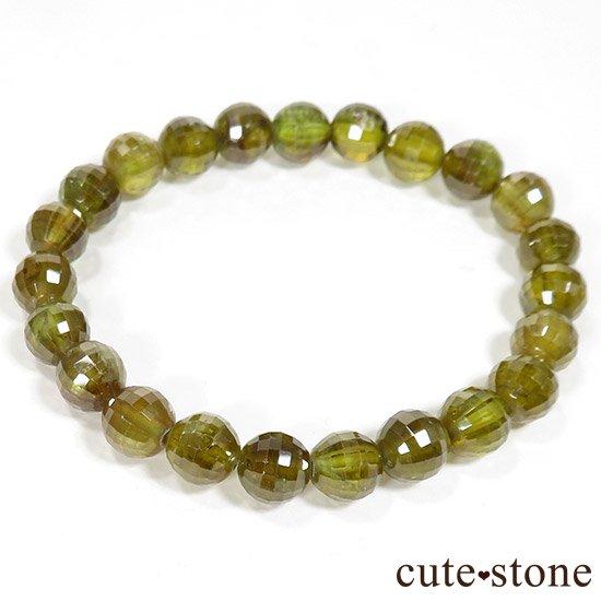 スフェーン(チタナイト)イエローグリーンカラーの7〜7.5mm ブレスレットの写真0 cute stone