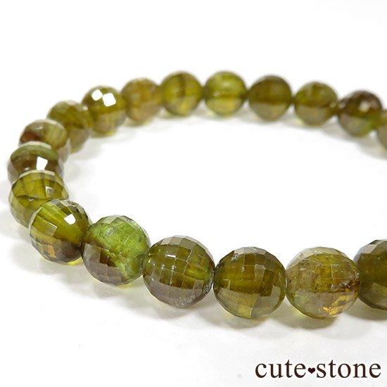 スフェーン(チタナイト)イエローグリーンカラーの7〜7.5mm ブレスレットの写真1 cute stone