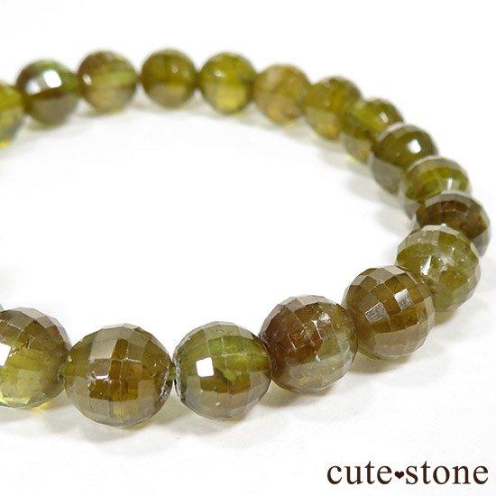 スフェーン(チタナイト)イエローグリーンカラーの7〜7.5mm ブレスレットの写真2 cute stone