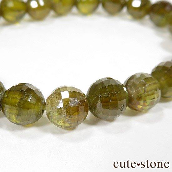 スフェーン(チタナイト)イエローグリーンカラーの7〜7.5mm ブレスレットの写真4 cute stone