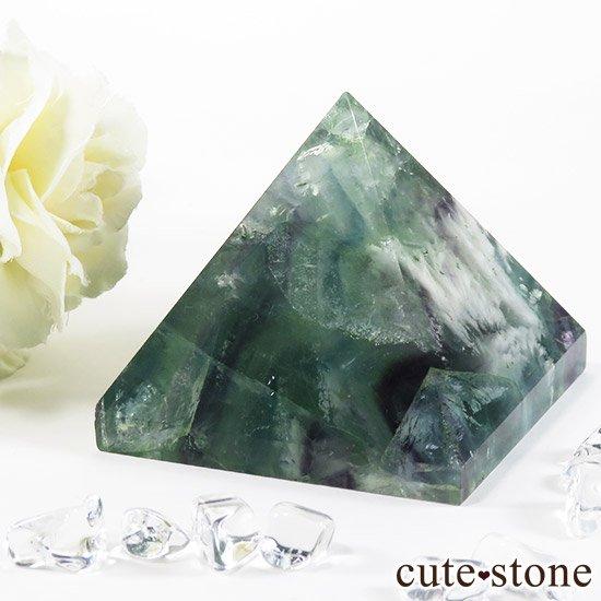 フェザーインフローライト(エンジェルフェザー)のピラミッド(金字塔)163gの写真1 cute stone