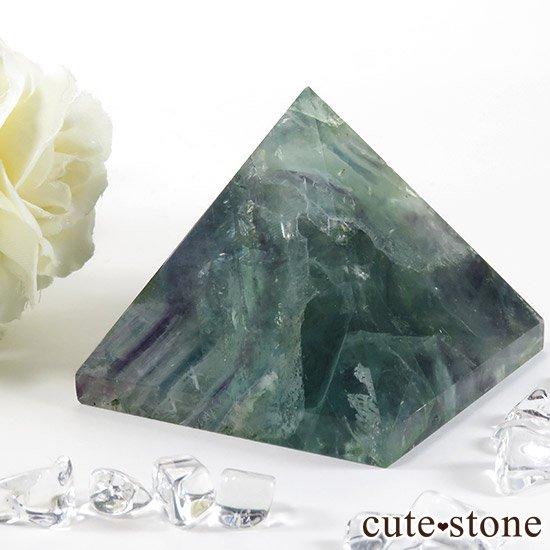 フェザーインフローライト(エンジェルフェザー)のピラミッド(金字塔)163gの写真2 cute stone