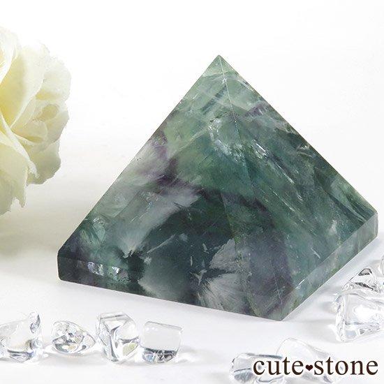 フェザーインフローライト(エンジェルフェザー)のピラミッド(金字塔)163gの写真3 cute stone