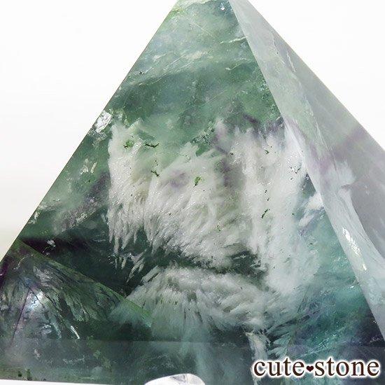 フェザーインフローライト(エンジェルフェザー)のピラミッド(金字塔)163gの写真4 cute stone