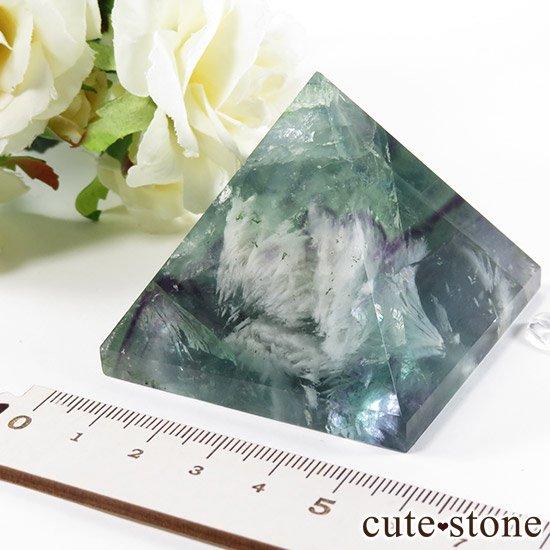 フェザーインフローライト(エンジェルフェザー)のピラミッド(金字塔)163gの写真5 cute stone