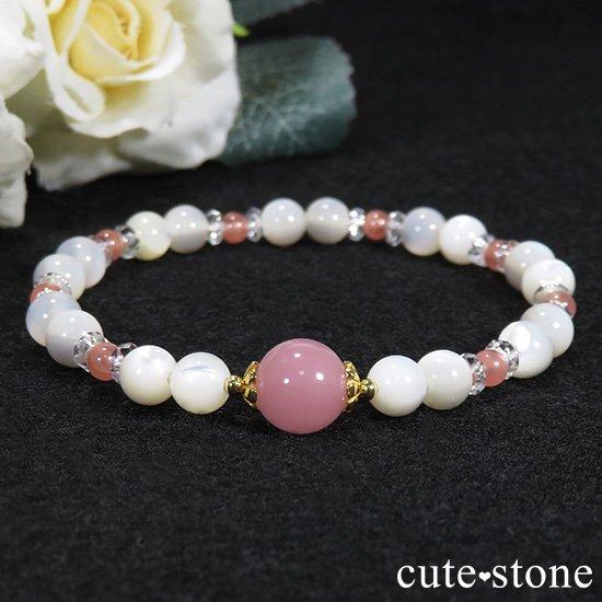 【cute princess】 グァバクォーツ インカローズ マザーオブパールのブレスレットの写真0 cute stone
