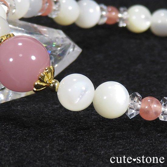 【cute princess】 グァバクォーツ インカローズ マザーオブパールのブレスレットの写真2 cute stone