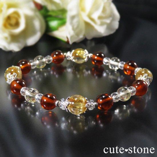 【Twilight】 ゴールドルチル ヘソナイト シトリンのブレスレットの写真0 cute stone