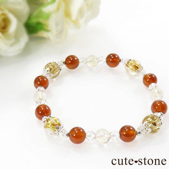 【Twilight】 ゴールドルチル ヘソナイト シトリンのブレスレットの写真1 cute stone