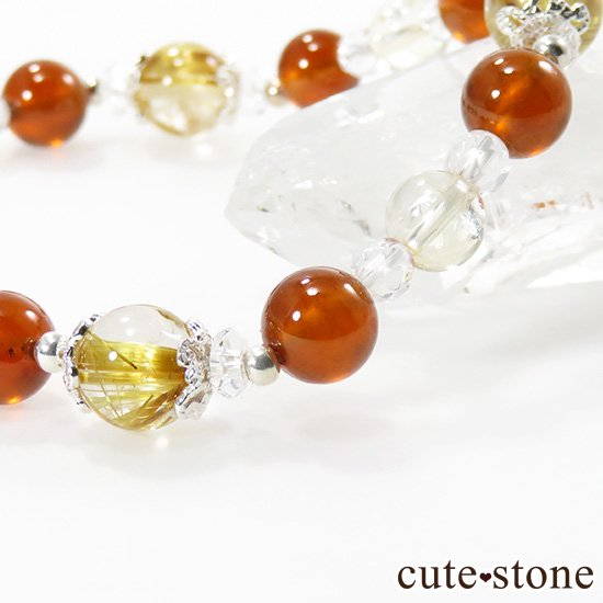 【Twilight】 ゴールドルチル ヘソナイト シトリンのブレスレットの写真3 cute stone