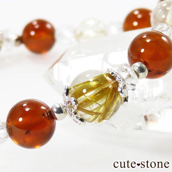 【Twilight】 ゴールドルチル ヘソナイト シトリンのブレスレットの写真4 cute stone