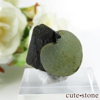マリ産 プレナイト&エピドートの原石(鉱物標本)10gの画像