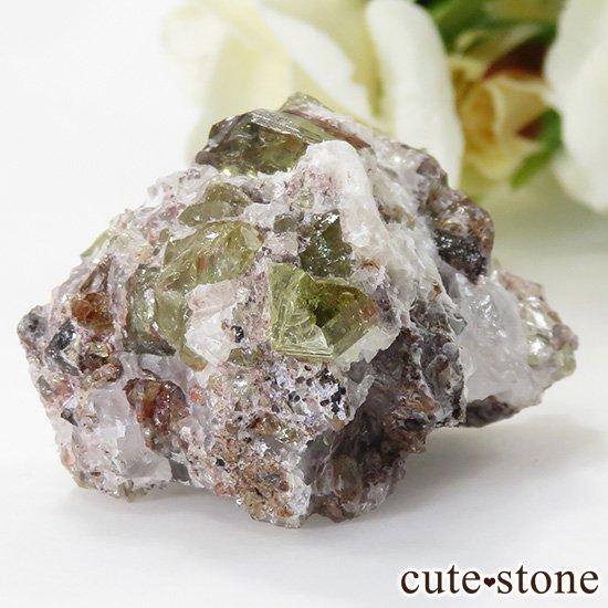メキシコ産 フルオロアパタイトの母岩付き結晶(原石)28gの写真0 cute stone