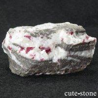 辰砂(シンシャ)シナバーの母岩付き原石 86gの画像