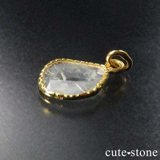 スライスダイヤモンド K18製のペンダントトップ No.1の写真1 cute stone