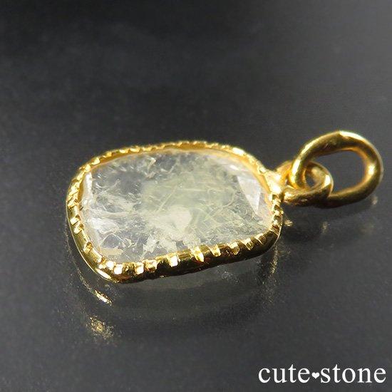 スライスダイヤモンド K18製のペンダントトップ No.2の写真1 cute stone