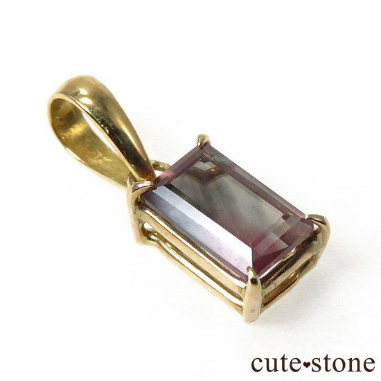 オレゴンサンストーンのK18製カット入りペンダントトップ Dの写真0 cute stone