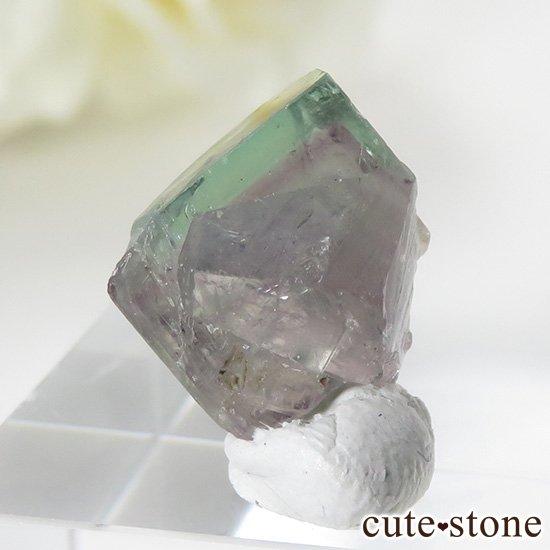 イングランド ロジャリー鉱山産 バイカラーフローライトの結晶(原石)2.4g