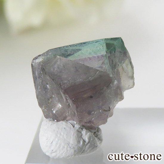 イングランド ロジャリー鉱山産 バイカラーフローライトの結晶(原石)2.4gの写真0 cute stone