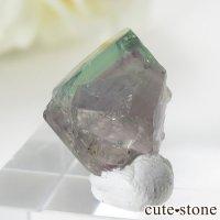 イングランド ロジャリー鉱山産 バイカラーフローライトの結晶(原石)2.4gの画像