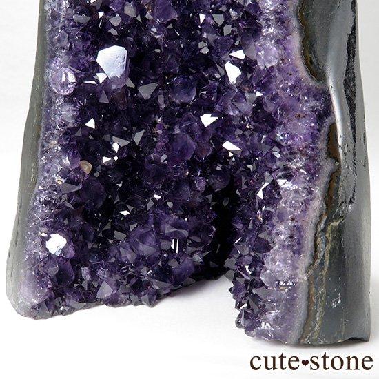 ウルグアイ産アメジストドーム(カペーラ・置物)ミニサイズ 920gの写真6 cute stone