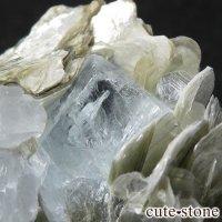 パキスタン産アクアマリン 母岩付き結晶(原石)63gの画像