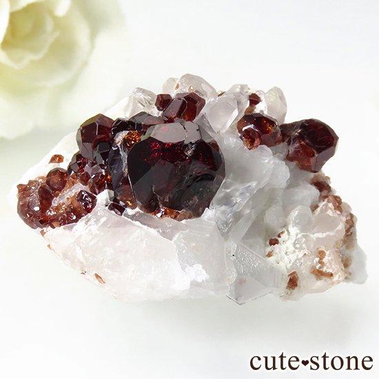 パキスタン産 スペサルティンガーネットのクラスター(原石)27gの写真1 cute stone