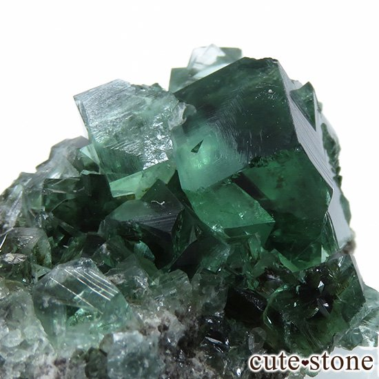 イングランド ロジャリー鉱山産 蛍光フローライトの母岩付き結晶(原石)10.9gの写真2 cute stone