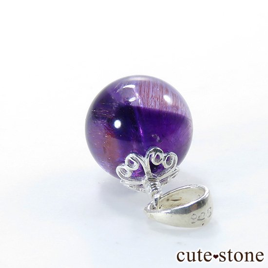 バイカラーアメジストのペンダントトップの写真2 cute stone