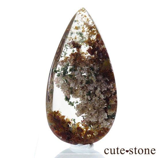 ガーデンクォーツのドロップ型ルースの写真1 cute stone