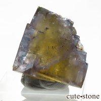 フランス ヴァルゼルグ産 イエローブルーフローライトの結晶(原石)11.9gの画像