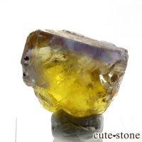 フランス ヴァルゼルグ産 イエローブルーフローライトの結晶(原石)8.1gの画像