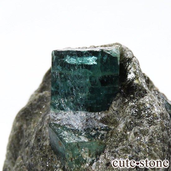 アフガニスタン産 母岩付きエメラルドの原石(標本)9.8gの写真1 cute stone