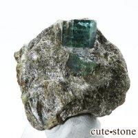 アフガニスタン産 母岩付きエメラルドの原石(標本)9.8gの画像