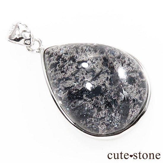 【希少】 ヘマタイトインクォーツのドロップ型ペンダントトップの写真0 cute stone