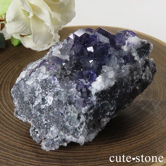 中国 福建省産パープルブルーフローライトの原石 65gの写真2 cute stone