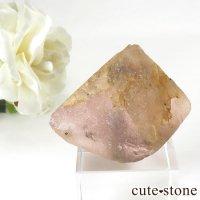 ピンクフローライト(内モンゴル産)の八面体結晶(原石) 46gの画像