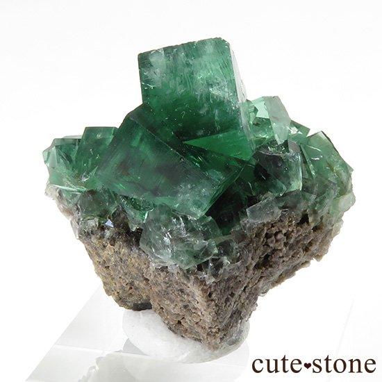 イングランド ロジャリー鉱山産 蛍光フローライトの母岩付き結晶(原石)22g