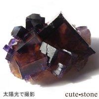 イリノイ産 パープル×イエローフローライト(蛍石)の原石の画像