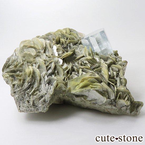 パキスタン産 大きなアクアマリンの母岩付き結晶(原石)506gの写真0 cute stone