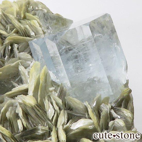 パキスタン産 大きなアクアマリンの母岩付き結晶(原石)506gの写真3 cute stone