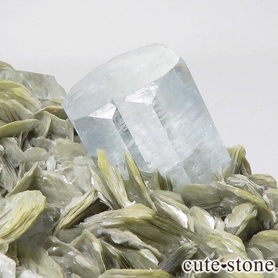 パキスタン産 大きなアクアマリンの母岩付き結晶(原石)506gの写真4 cute stone